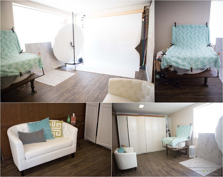 Newborn photography studio, photography studio layout organization